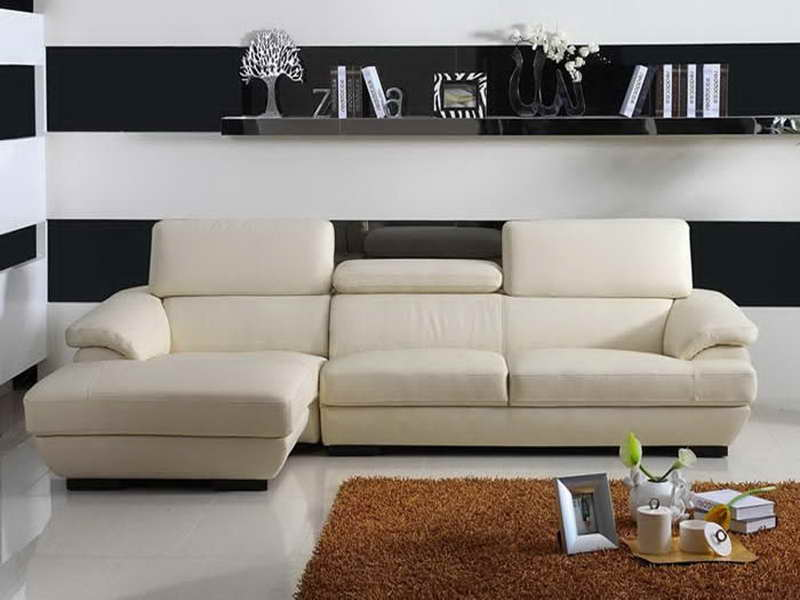 minimalist white sectional sofa for small minimalist living room brown
