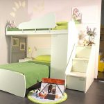 Modern kids loft bed IKEA with built in stairs and additional bed