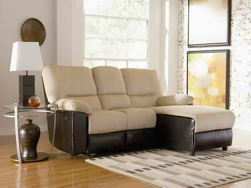 modern sectional sofa with chaise for small space round glass top side