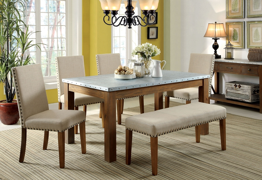 Charmant Soft Beige Upholstered Dining Bench With Other Dining Furniture Sets