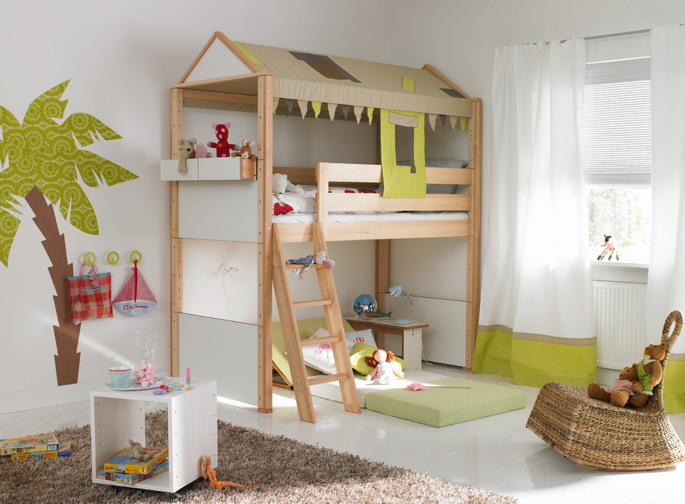 Unique kids loft bed IKEA with built in ladder & IKEA Kids Loft Bed: A Space-Efficient Furniture Idea for Kids ...