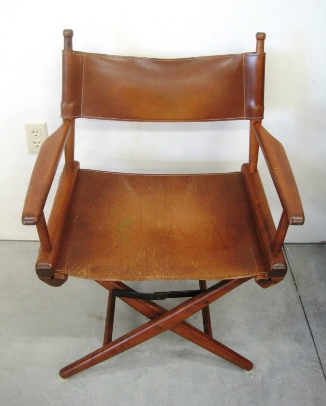 X Base Leather Director Chair Idea