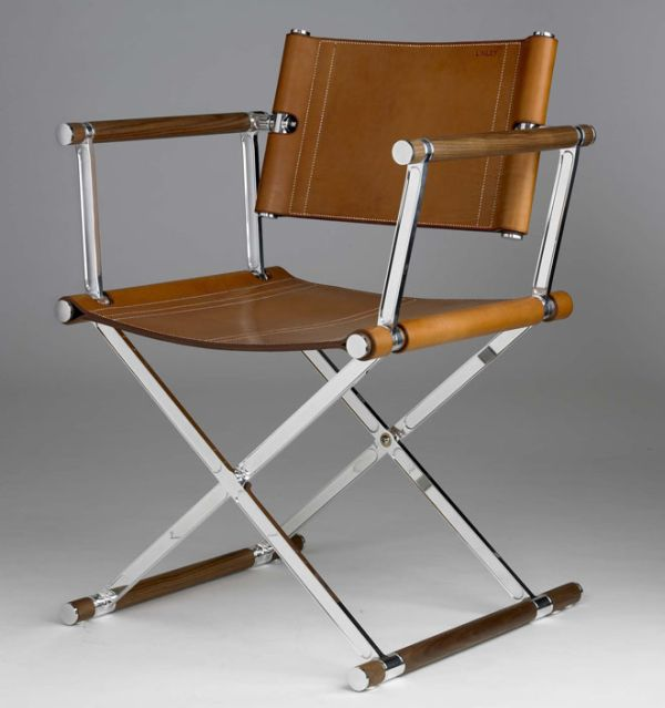 x base leather director chair with metal structure