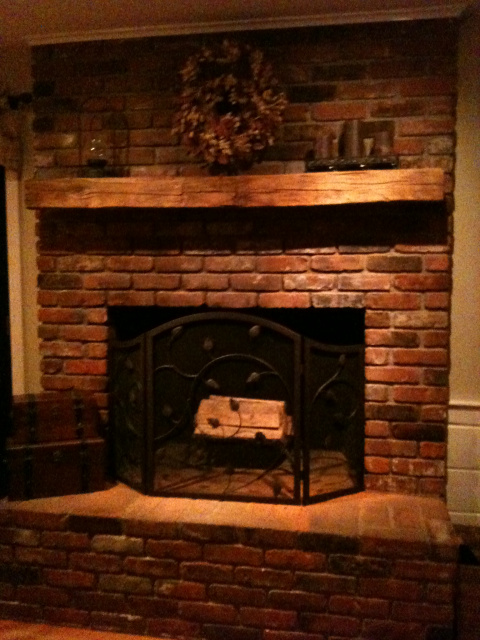 Exelent Ideas Of Reclaimed Wood Mantel Homesfeed