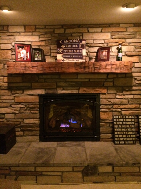 ... 005 Mesmerizing Fireplace With Classic Style On Stone Installation For Fire Mantel Using Rustic Model Of Fire Shelf And Several Pictures On Frame  ...