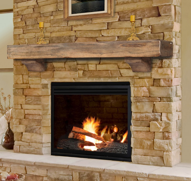 Finest Fireplace Model with Glass Panel on Stainless Mantel using Unpolished Brick with Less Ornaments of Fireplace Area in Minimalist House