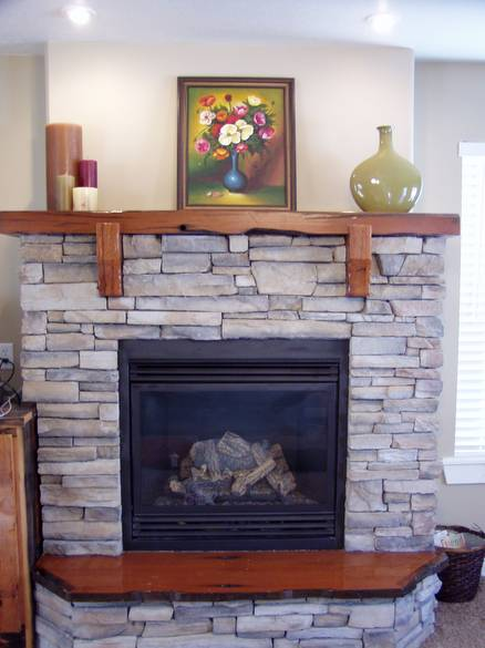 Amusing Fireplace with Cracked Stone for Fire Mantel and Mahogany Wood for Firepit using Transparent Panel on Fire Circulation of White House