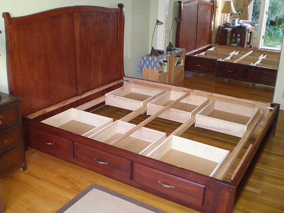 Permalink to woodworking plans platform bed drawers