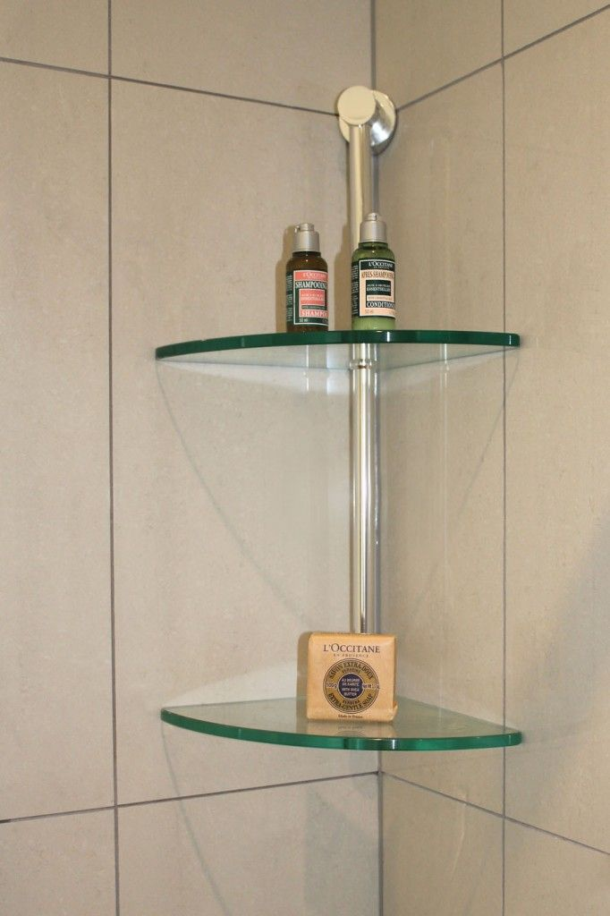 60 fascinating shower shelves for better storage settings for Bathroom glass shelves