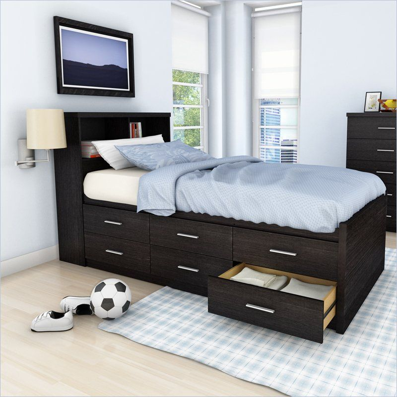 Fascinating beds with drawers for super convenient sleeping space homesfeed - Tiny bedroom decoration comforting your sleep with delicate layout ...