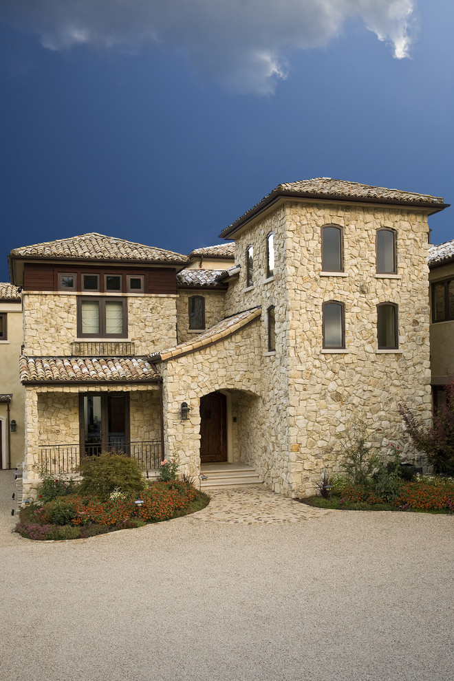 Tuscan style estate with rustic accent