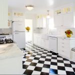 Black White Flooring Idea Beautifully White Kitchen Set