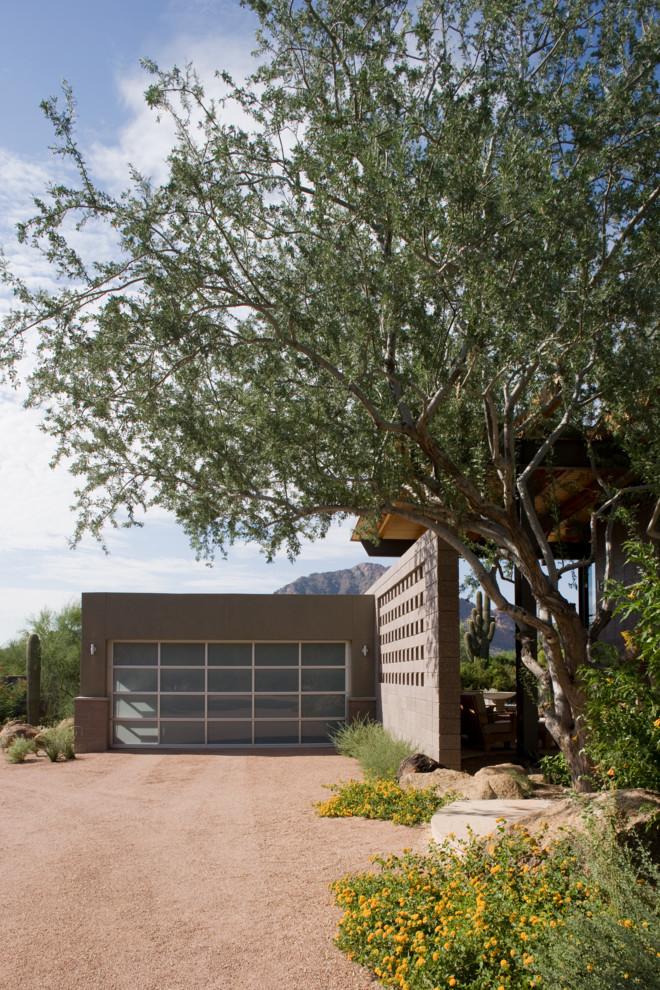 minimalist garage entrance idea with full glass door in square look garage building