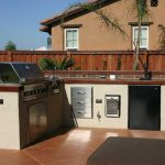 Modern Outdoor Kitchen With BBQ Island