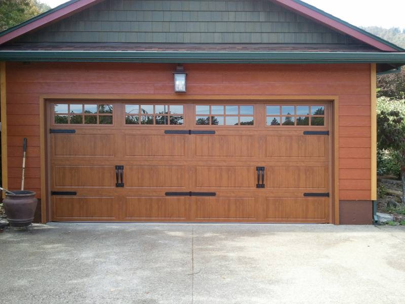 oak clopay garage door for traditional shed