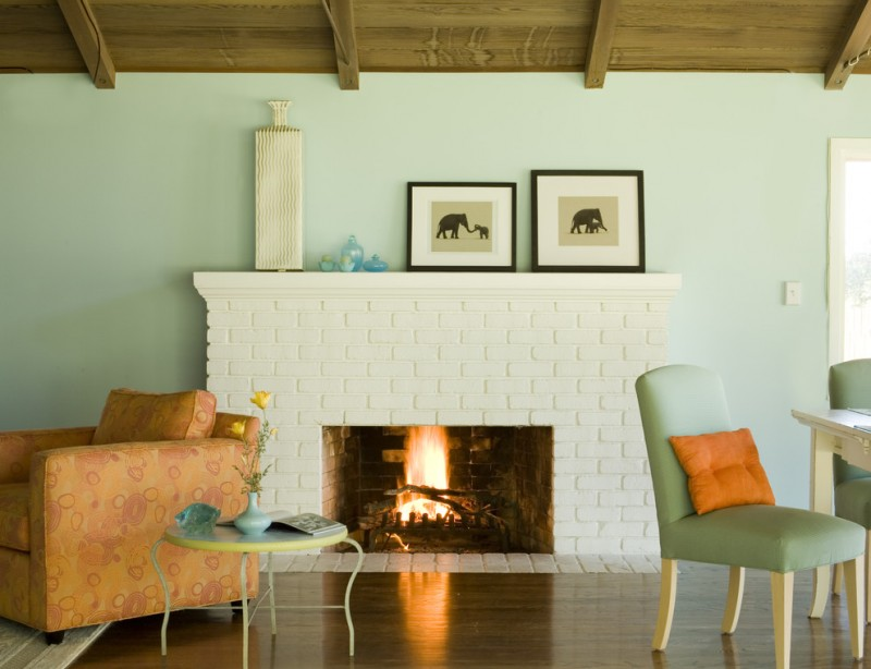 30 ideas of stylish white brick fireplace homesfeed - Painted brick exterior pictures set ...