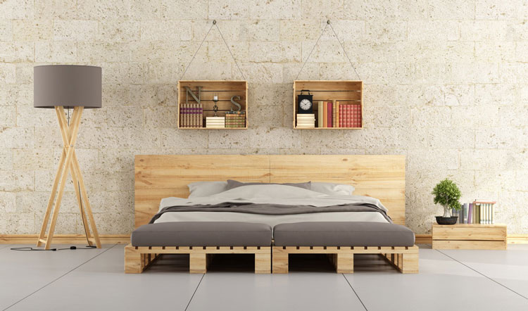 minimal bedroom mattress