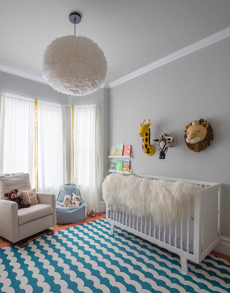 beach style nursery idea white blue waves nursery rug white baby crib light grey nursery chair small sized and baby blue bean bag chair white fluffy ball pendant lamp