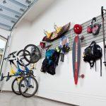 Contemporary Garage Design With Sport Equipment Display