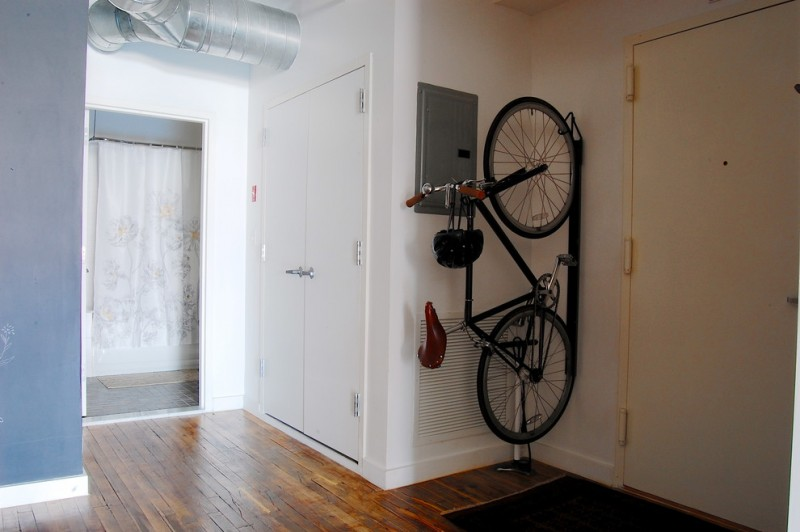 for the single pin pinterest solutions door off vertical apartment bike rack