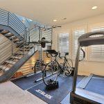 Modern Home Gym With Kickstand For Bike Treadmill