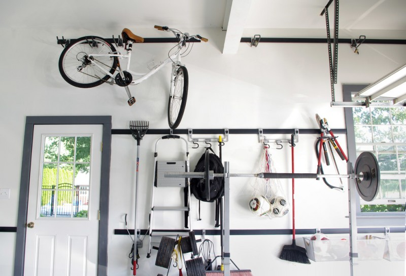 modern shed idea hung bike rack hang rack for sport equipments