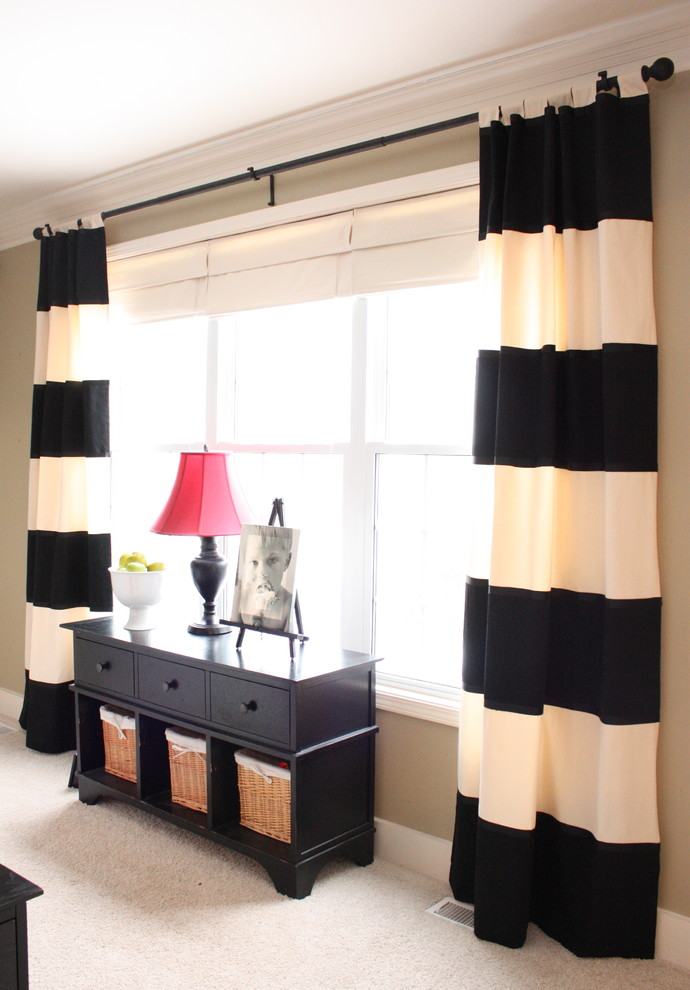 monochrome window curtains for basement black curtains rod black finished lounge table with storage underneath