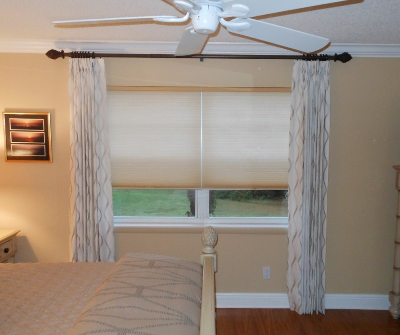 soft basement curtains with darker patterns soft toned cellular shade rustic curtain hardware