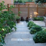 Contemporary Landscape Design Cedar Fence Idea With Handmade Modern Carvings On Top