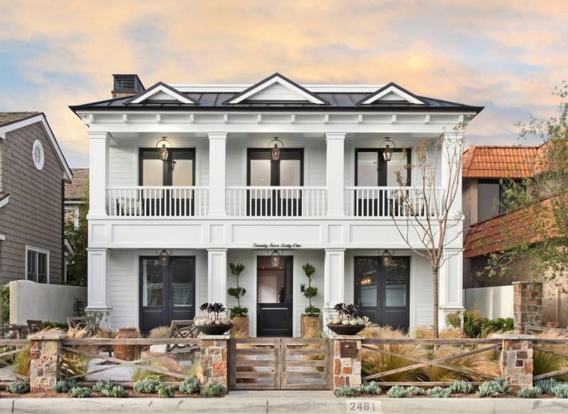 formal exterior idea rustic style landscape rustic style fence idea