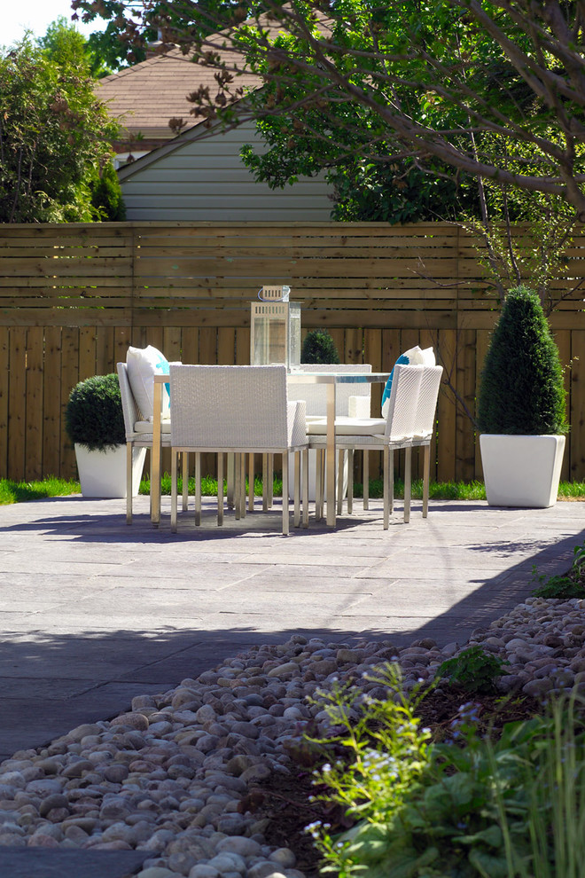 modern patio idea pavers flooring idea white outdoor dining furniture set mix horizontal vertical cedar fencing idea