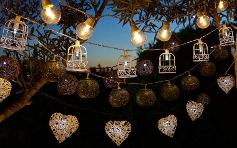 decorative strings of lights with multi shape