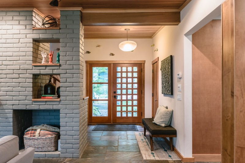 Front Foyer Wall Ideas : Affordable ideas of midcentury modern house probably fit