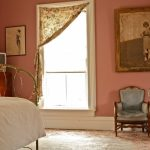 Shabby Chic Bedroom Idea Vintage Style Chair Antique Photograph Vintage Style Window Curtain Bold Pink Walls