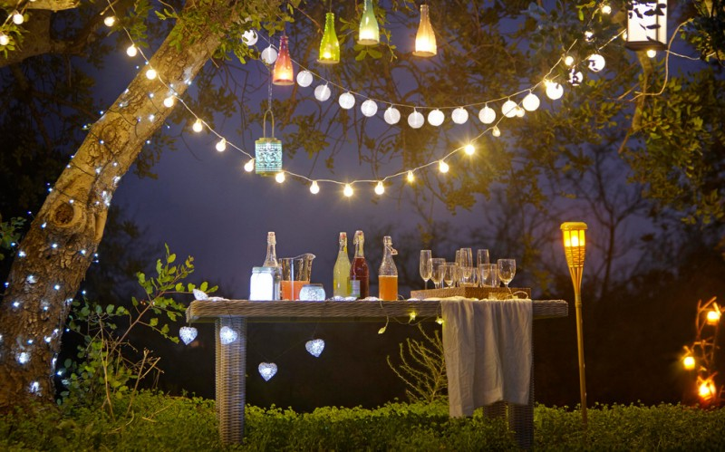 shabby chic garden solar powered bulb strings creative colorful pendant lights stand alone lights