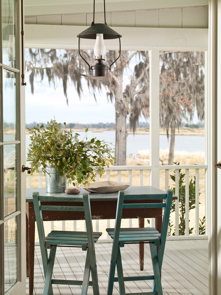 shabby chic porch shabby blue outdoor chairs and table