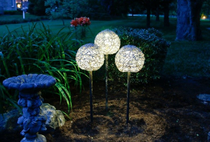 stand ball lighting fixtures with textured surface