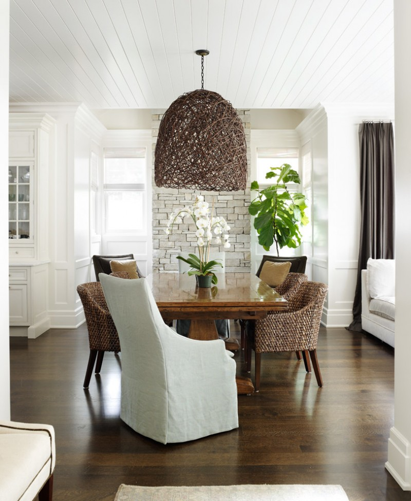 woven dining chairs glossy top wood dining table white dining chair slipcover woven pendant dark wood floors