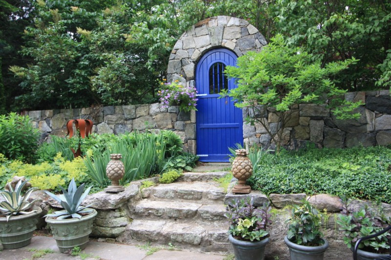 pop of blue doorgate natural stonegate idea