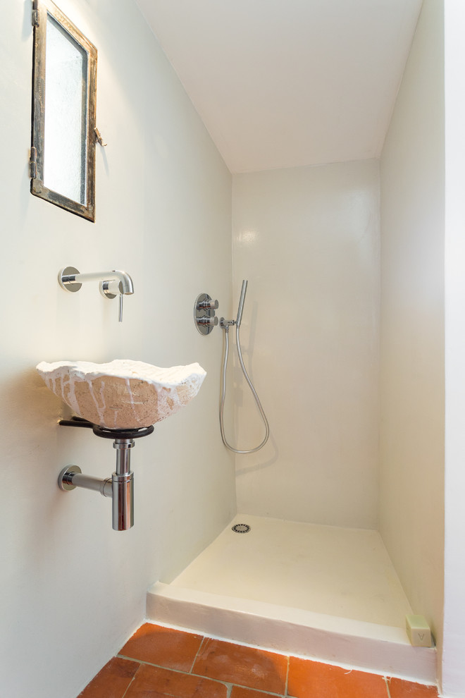 small bathroom walk in shower small wall mounted sink
