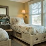 traditional twin bed frames with under open shelf and drawers
