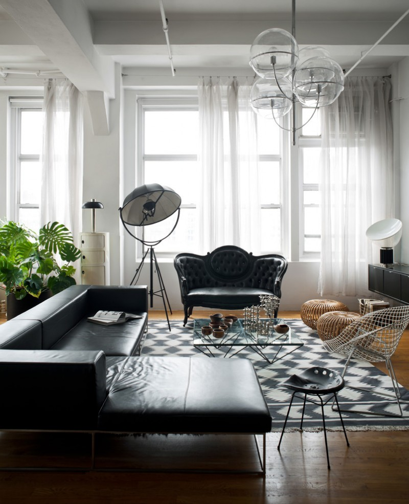 Black and White Living Room Furniture Ideas, The Recommendations for ...