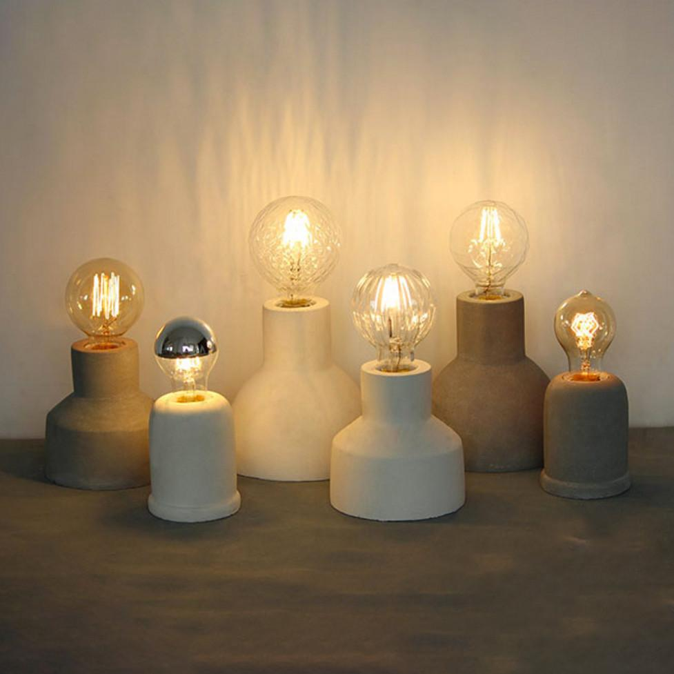 concrete fitting table lamps with warm and low light effect