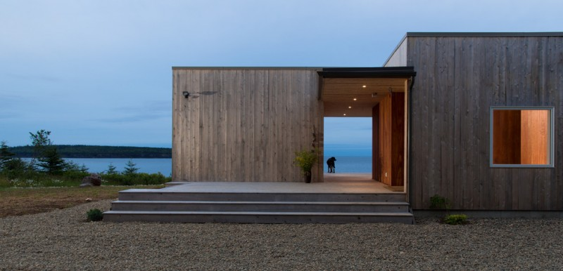 contemporary exterior idea two story vertical exterior wood box with window flat concrete floors flat roofs