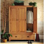 Farmhouse Room Design Oak Closet Decorative Bamboos Some Houseplants Brick Walls
