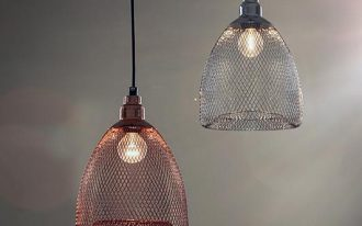 glossy cage pendants with bulb inside