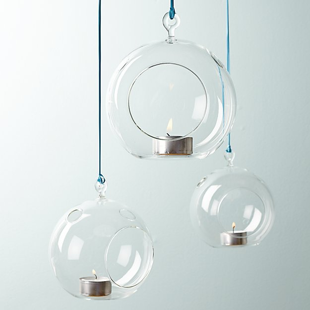 hanging candlelight balls with clear glass showcase