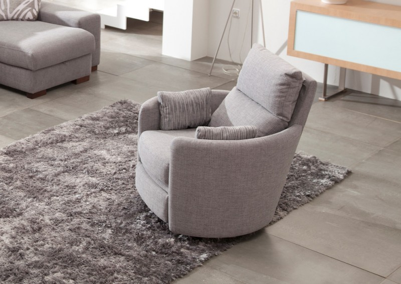 modern recliner chair in soft gray soft gray throw pillows gray shug rug soft gray tiled floors