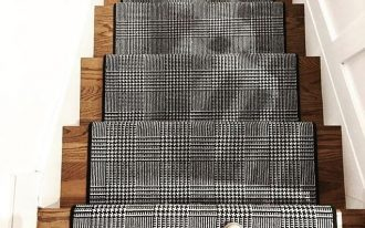 Missoni's stair runner in black