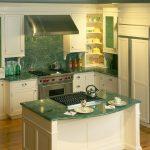 Modern Kitchen Design Green Marble Kitchen Counter Green Marble Kitchen Island Green Glass Cabinets With Raised Panels Green Marble Backsplash Stainless Steel Appliances